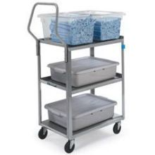 Handler Series Medium Duty Stainless Steel Utility Cart with Three 18 x 27 inch Shelves