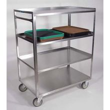 Stainless Steel Medium Duty 4 Shelves 3 Edges Up and 1 Down Banquet Cart