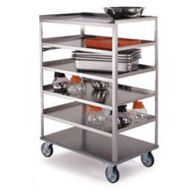 Stainless Steel Medium Duty 6 Shelves 3 Edges Up and 1 Down Banquet Cart