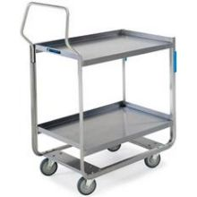Handler Series Stainless Steel Tough Transport NSF Utility Cart with Three 18 x 27 inch Shelves