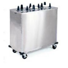 Stainless Steel 3 Stack Non Heated Regular Round Plate Dispenser for 9.25 to 10.125 inch Plate Size