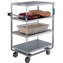Stainless Steel Heavy Duty NSF 4 Shelves All Shelf Edges Down Banquet Cart with 21 x 33 inch Shelf