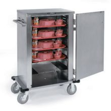 Stainless Steel Elite Series Late Tray Delivery Cart for 6 Tray Capacity