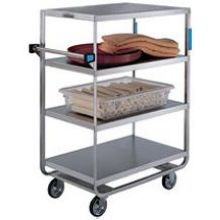 Stainless Steel Heavy Duty NSF 4 Shelves 3 Edges Up and 1 Down Banquet Cart with 21 x 49 inch Shelf