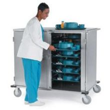 Stainless Steel Elite Series Low Profile Tray Delivery Cart