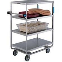 Stainless Steel Heavy Duty NSF 6 Shelves All Shelf Edges Down Banquet Cart with 21 x 49 inch Shelf