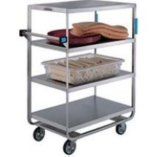 Stainless Steel Heavy Duty NSF 6 Shelves 3 Edges Up and 1 Down Banquet Cart with 21 x 49 inch Shelf