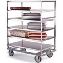 Stainless Steel Tough Transport Queen Mary 6 Shelves All Shelf Edges Down Banquet Cart with 28 x 46 inch Shelf