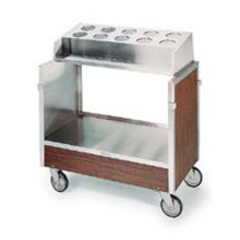Stainless Steel Walnut Finish Tray and Silver Cart for 120 Tray Capacity