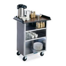 Stainless Steel Beverage Service Cart with Laminate Finish