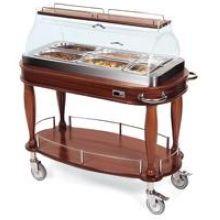 Geneva Wood Bordeaux Veneer Hot Appetizer Cart