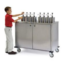 Stainless Steel EZ Serve Condiment Cart with 6 Pumps