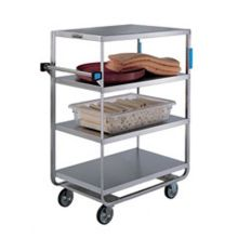 Stainless Steel Heavy Duty 4 Shelves 3 Edges Up and 1 Down Banquet Cart