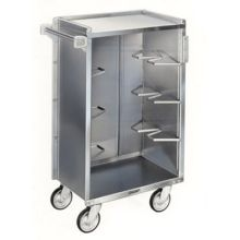 Stainless Steel Vinyl Finish Enclosed Bussing Cart
