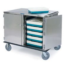Stainless Steel Premier Series 2 Compartment Low Profile Tray Delivery Cart