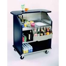 Geneva Stainless Steel Interior with Laminate Finish Exterior Portable Bar