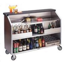 Geneva Stainless Steel Interior with 80 Pound Ice Bin Capacity Laminate Exterior Finish Portable Bar