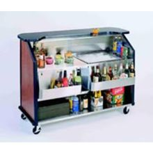 Geneva Stainless Steel Interior with Laminate Exterior Finish Portable Bar
