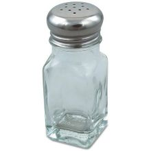 Square Glass Salt and Pepper Shaker