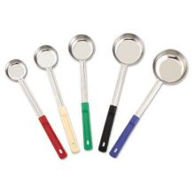 One Piece Solid Food Portion Controller with Red Handle