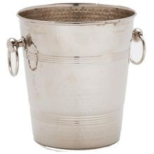 Hammered Wine Bucket 7 1/2 x 7 1/2 x 8 1/2 inch