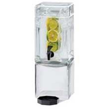 Acrylic Clear Square Beverage Dispenser with Infusion Chamber