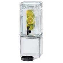 Acrylic Square Clear Beverage Dispenser with Infusion Chamber and Handles