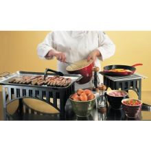Stainless Steel Griddle Plate with Bracket Only 20 x 13 3/4 x 2 1/4 inch