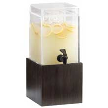 Acrylic Square Midnight Bamboo Beverage Dispenser with Infusion Chamber