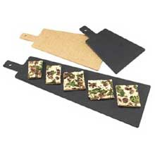 Black Tall Serving Board with Handles