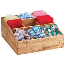Madera Reclaimed Wood Multi Section Condiment Organizer