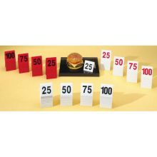Numbered Tent - 3 x 3 inch Set 1 to 25 227