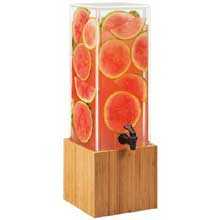 Bamboo Base Dispenser with Decorative Infusion Wall