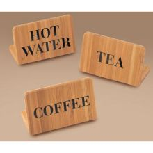 Bamboo Sign Hot Water 3 x 2 x 1 inch