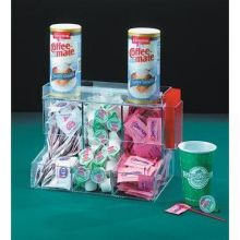 Clear Three Section Coffee Condiment Center 13 x 9 x 8 inch
