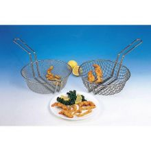 10in Round Tinned Steel Coarse Mesh Culinary Baskets