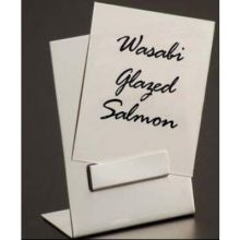 Brushed Satin Finish Stainless Steel Tall Card Holder