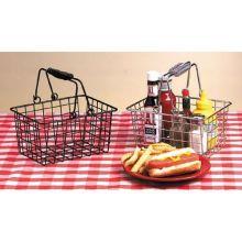 Chrome Rectangular Basket 9 x 7 x 5 inch