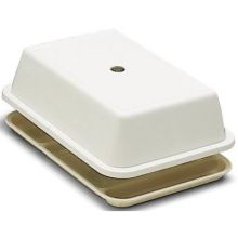 Polypropylene Universal White Compartment Tray Cover Only