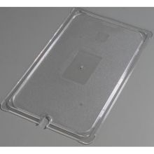 Polycarbonate Clear Universal Full Size Flat Notched Lid Only