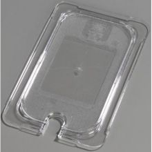 Polycarbonate Clear Universal Flat Notched Lid Only for TopNotch One Quarter Size Food Pan