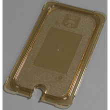 High Heat Plastic Amber Universal Flat Notched Lid Only for TopNotch One Third Size Food Pan