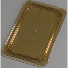 High Heat Plastic Amber Universal Flat Lid Only for TopNotch One Quarter Size Food Pan