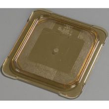 High Heat Plastic Amber Universal Flat Lid Only for TopNotch One Sixth Size Food Pan