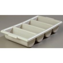 Save All Polyethylene Grey Silverware 4 Compartment Tray