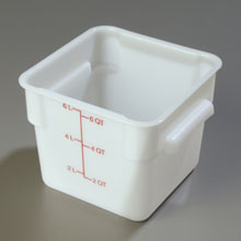 6 Quart StorPlus Polyethylene Square Food Storage Container
