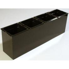 Polycarbonate Black Condiment Food Station Organizer