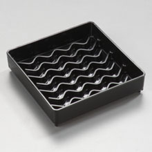 Black Patented NeWave Square Drip Tray 4 inch
