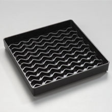 Black Patented NeWave Square Drip Tray 6 inch