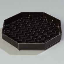 Black Patented NeWave Octagon Drip Tray 6 inch